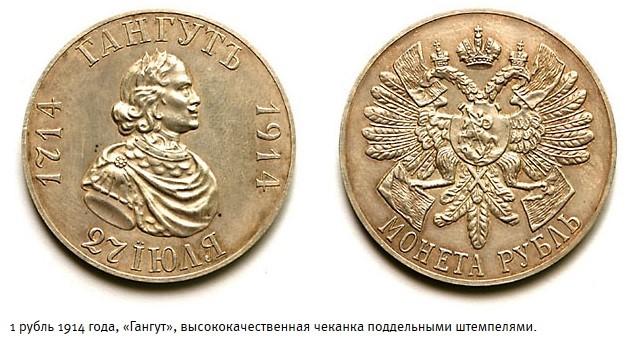 1 рубль 1914 года, «Гангут» подделка