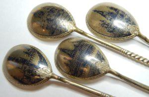 Купим серебро 84 с чернью Виды Москвы