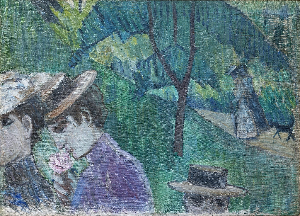 Михаил Ларионов. Прогулка. 1907-1908