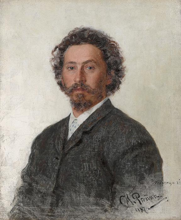 Илья Репин. Автопортрет. 1887 г. Третьяковская галерея