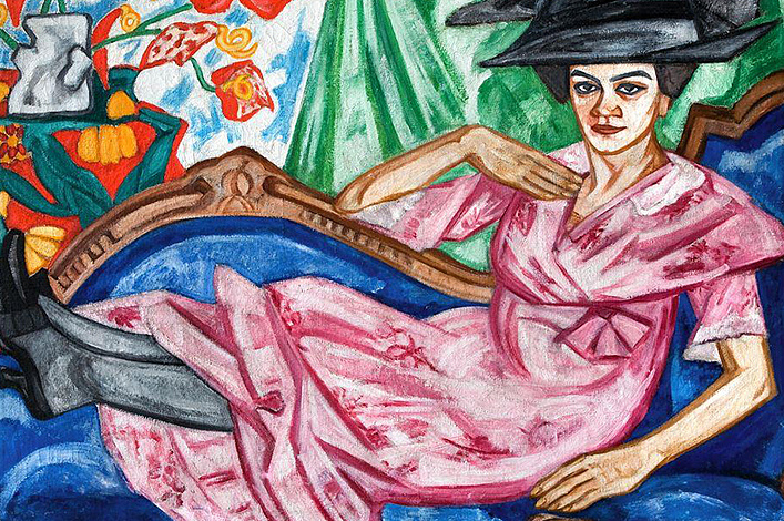 Ольга Розанова. Портрет Анны Розановой. 1912 (Екатеринбургский музей изобразительных искусств). Выставка «Союз молодежи. Русский авангард 1909 - 1914»