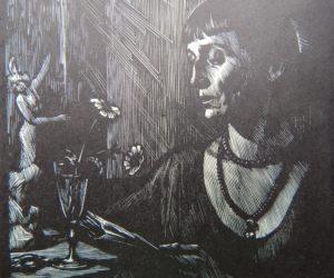 Н. Калита. Ксилография Анна Ахматова. Фрагмент