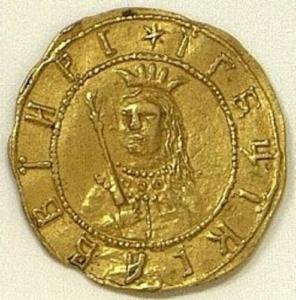 Золотой в 1 червонец за Крымский поход 1687 г. Государственный Эрмитаж